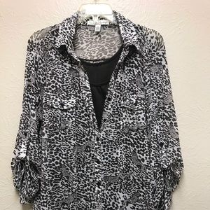 2/$10 brown 2 pc blouse